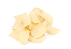 Bunch of potato chips. Royalty Free Stock Images