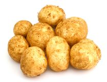 Bunch of potatoes Stock Image