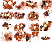 Bunch of pralines Royalty Free Stock Photos