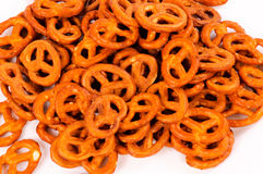 Bunch of pretzels Stock Photo