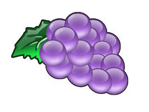 Bunch of purple grapes Stock Photo