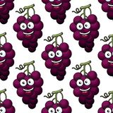 Bunch of purple grapes seamless pattern Royalty Free Stock Image