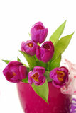 Bunch of purple tulips Stock Image