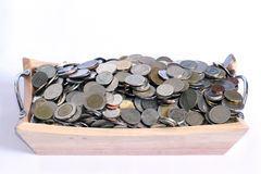 Bunch of quarters. On white background Royalty Free Stock Photo