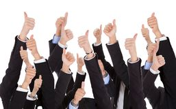 A bunch of raised hands Royalty Free Stock Images