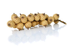 Bunch of rattan fruits on white Royalty Free Stock Images