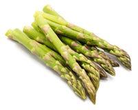 Asparagus. Bunch of raw asparagus isolated on white backgroundn Stock Photos
