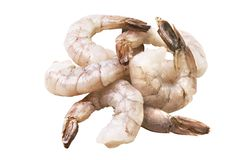 A bunch of raw fresh prawn royalty free stock photography