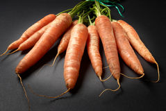 Bunch of raw Organic carrots Stock Photography