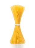 Bunch of raw pasta spaghetti on white background Royalty Free Stock Images