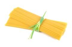 Bunch of raw spaghetti Stock Photos