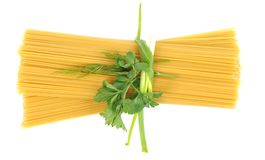 Bunch of raw spaghetti Royalty Free Stock Photography
