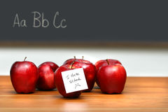 Bunch of red apples Stock Photos
