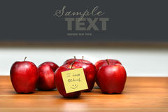 Bunch of red apples Royalty Free Stock Image