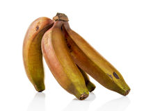 Bunch of red bananas from Mexico Stock Photos