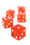 Bunch of Red Dice Royalty Free Stock Image