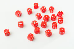 Bunch of Red Dices Stock Image