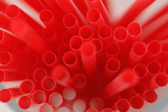Bunch of red drinking straws Royalty Free Stock Image