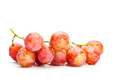 Bunch of red grape. Isolated on white background Stock Photo