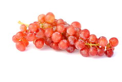 Bunch of red grapes. On white background soft shadows Stock Images