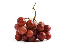 Bunch of red grapes. Isolated on white background. Clipping path included Royalty Free Stock Photos