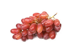 Bunch of red grapes isolated Stock Photography