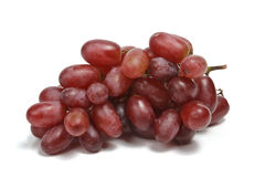 Bunch of red grapes isolated Stock Photos