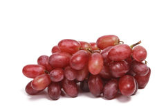 Bunch of red grapes isolated Royalty Free Stock Photos