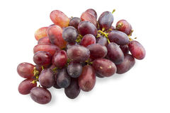 Bunch of red grapes isolated on white background Royalty Free Stock Photography