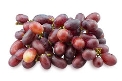 Bunch of red grapes isolated on white background Royalty Free Stock Photo