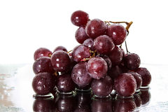 Bunch of red grapes Stock Images