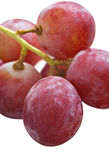 Bunch of red grapes on white Stock Photo