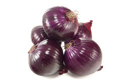 Bunch of red onions Royalty Free Stock Images
