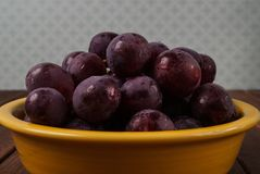 Bunch of red ripe grapes Stock Photo