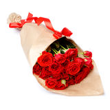 Bunch of red roses isolated on white background Stock Photography