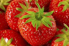 Bunch of Red Strawberries Stock Images