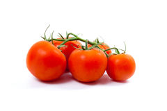 Bunch of red tomatoes on white background Royalty Free Stock Photo