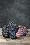 Bunch of red wine grape Stock Photo