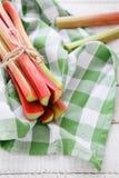 Bunch of rhubarb stalks Stock Photography