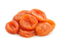 Bunch of ripe apricots on white background Stock Photos