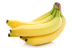 Bunch of ripe banana fruits isolated stock image