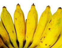 Bunch of ripe banana. Isolate on white Stock Photos