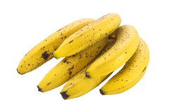 Bunch of Ripe Bananas. Isolated over white background Stock Photography