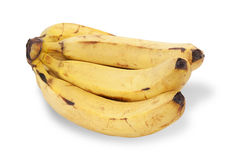 Bunch of ripe bananas isolated Royalty Free Stock Photo