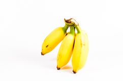 Bunch of ripe bananas isolated on white Royalty Free Stock Photo