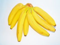 Bunch of ripe bananas on white background Stock Images