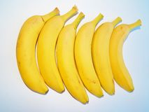 Bunch of ripe bananas on white background Royalty Free Stock Images
