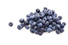 Bunch of ripe blueberries isolated macro shot Stock Images