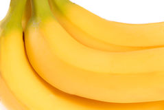 Bunch of ripe delicious yellow bananas Stock Image