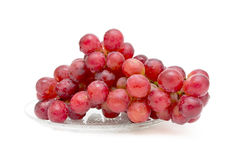 Bunch of ripe grapes on white background stock photos